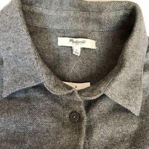 NWT Madewell button up gray shirt large